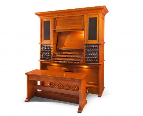 overzichtsfoto hoog orgel van eikenhout