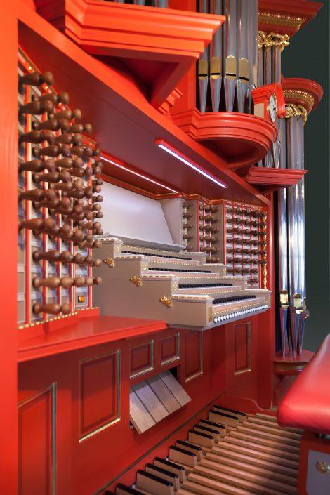 Huiskamerorgel geïnspireerd door het Marcussen-hoofdorgel uit de Rotterdamse Sint-Laurenskerk