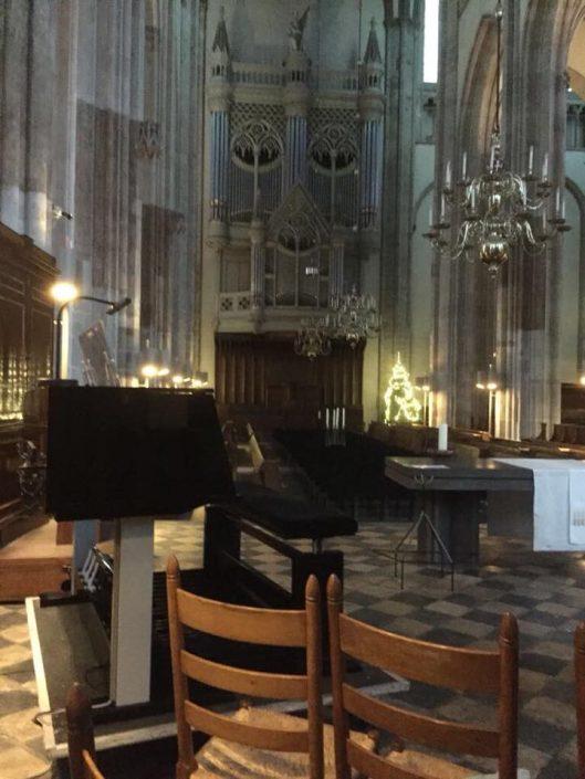 Tijdelijk Mixtuur orgel in Domkerk Utrecht