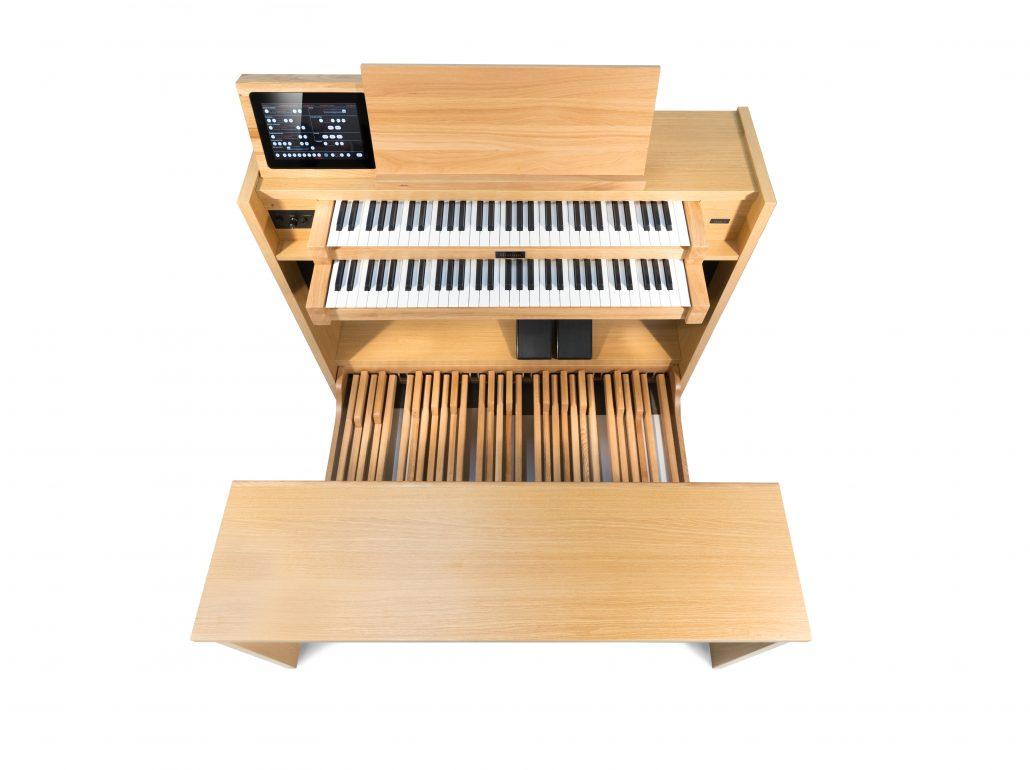 Mixtuur Etude orgel blik van bovenaf